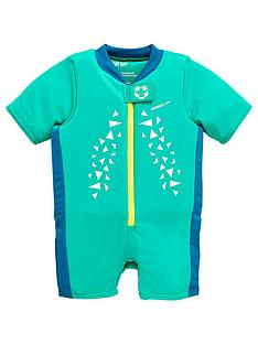 speedo-boys-infant-croc-printed-float-suit-green