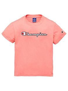 champion-girls-crew-neck-logo-t-shirt-pink