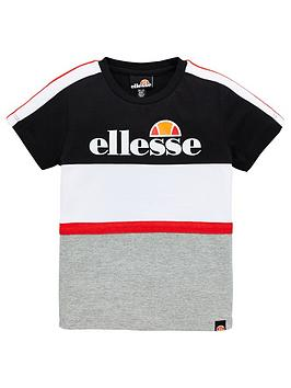 ellesse-younger-boys-ardinta-t-shirt-black-white