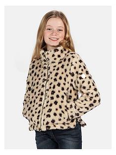 regatta-regatta-girls-kazumi-full-zip-flufffy-leopard-fleece