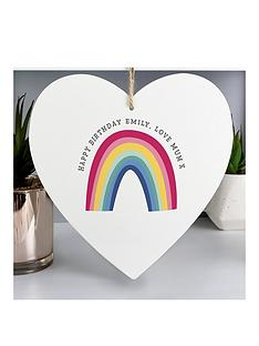 personalised-rainbow-large-wooden-heart-decoration