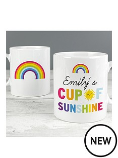 personalised-cup-of-sunshine-and-rainbows-mug
