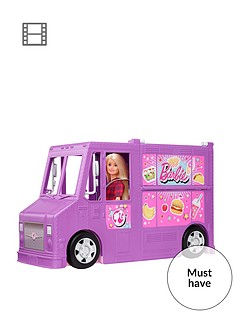 barbie-fresh-n-fun-food-truck-withnbspmultiple-play-areas-amp-30-realistic-play-pieces