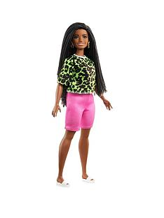 barbie-fashionistas-doll-neon-leopard-shirt-pink-bike-shorts