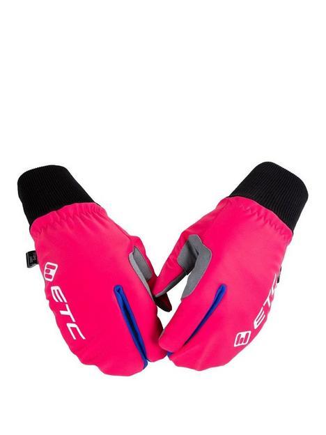 cycling-junior-winter-mittens-pink