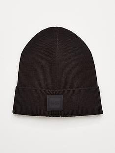 boss-foxxy-knitted-beanie-hat-black
