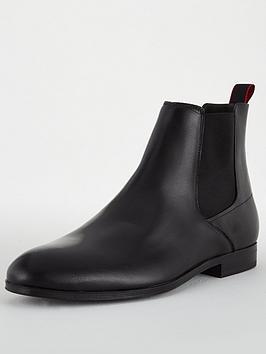 hugo-boheme-leather-chelsea-boots-black