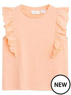 mango-girls-frill-detail-sleeveless-tshirt-coral