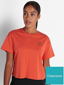 lyle-scott-crop-t-shirt-paprika
