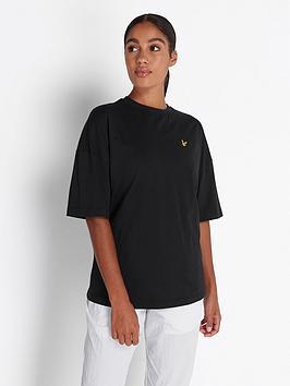 lyle-scott-oversized-t-shirt-black