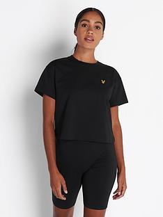 lyle-scott-crop-t-shirt-black