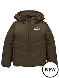 puma-essentials-padded-hooded-jacket-green