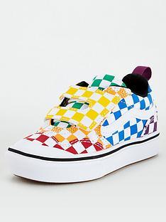 vans-new-skool-checkerboard-childrens-trainers-multi