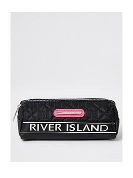 river-island-girls-quilted-pencil-case-black
