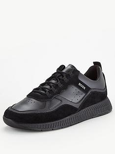 boss-titanium-leather-runner-trainers-black