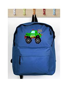 personalised-monster-truck-backpack