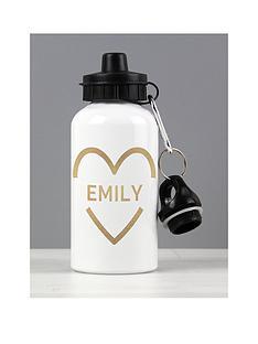 personalised-gold-heart-drinks-bottle