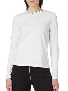 calvin-klein-jeans-logo-trim-long-sleeve-tee-white