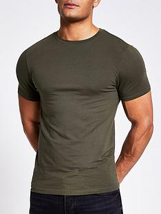 river-island-muscle-short-sleeve-mb-crew-tee-khaki