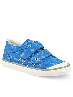 start-rite-boys-canvas-wave-shark-plimsolls-blue