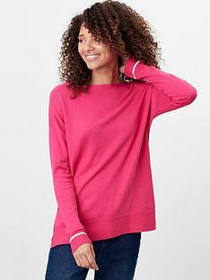 joules-vivianna-drop-shoulder-jumper-with-slash-neck-pink