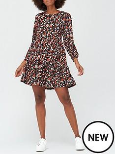 v-by-very-drop-hem-mini-dress-red-floral