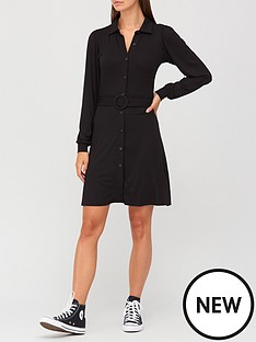 v-by-very-long-sleeve-belted-shirt-mini-dress-black