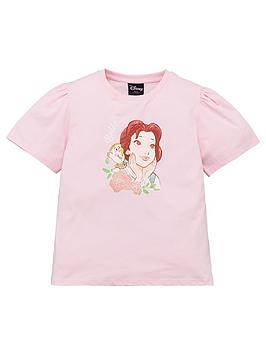 disney-beauty-and-the-beast-girlsnbspbeauty-and-the-beast-belle-t-shirt-with-puff-sleeve-pink