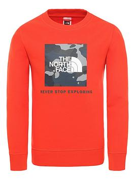the-north-face-childrensnbspbox-crew-red