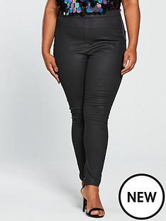 v-by-very-curve-coated-jegging-black