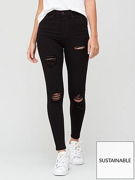 v-by-very-sustainablenbsppremium-high-waist-vari-rip-skinny-jeans-black