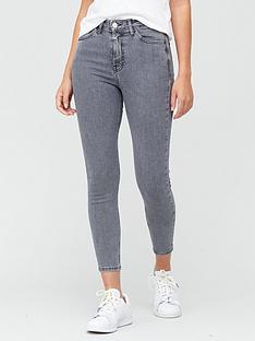 v-by-very-shortnbspsustainablenbsppremium-high-waist-skinny-jeans-grey
