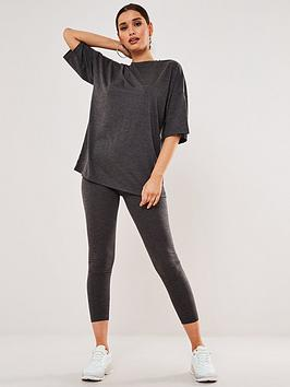 missguided-missguided-full-length-legging-amp-t-shirt-set-charcoal