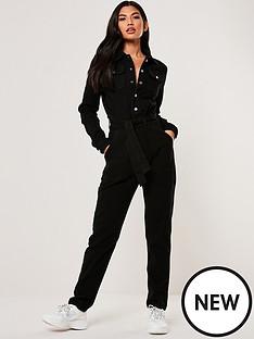 missguided-missguided-button-through-denim-boiler-suit--nbspblack