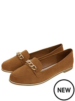 accessorize-chain-detail-loafers-tan