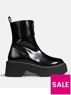 missguided-missguided-zip-up-stitch-detail-chunky-ankle-boots-black