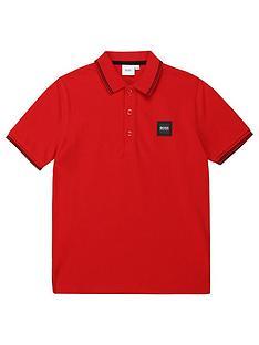 boss-boys-short-sleeve-box-logo-polo-red