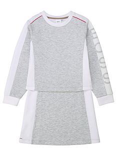 boss-girls-double-layer-sweat-dress-grey