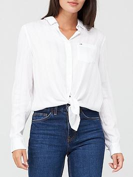 tommy-jeans-front-knot-shirt-white