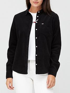 tommy-jeans-regular-fit-cord-shirt-black