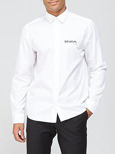 hugo-emero-tape-logo-shirt-white