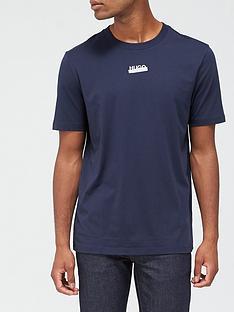 hugo-durnd-tape-logo-t-shirt-dark-blue