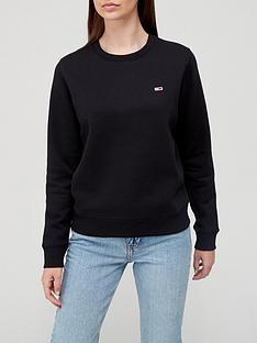tommy-jeans-regular-fleece-small-logo-crew-sweat-black