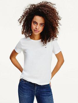 tommy-jeans-slim-logo-crew-t-shirt-white