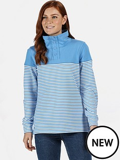 regatta-camiola-quarter-zip-fleece-blue-stripenbsp