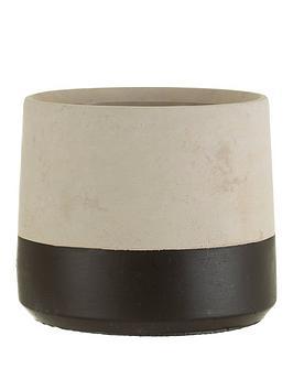 sass-belle-black-dip-cement-planter