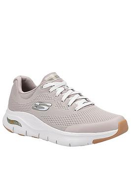 skechers-arch-fit-lace-up-trainers-taupe