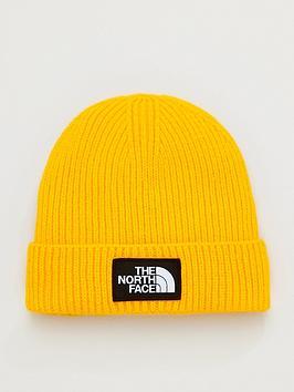 the-north-face-box-logo-cuff-beanie-hat-gold