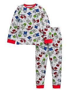 pj-masks-boysnbspall-over-print-long-sleeve-pjs-grey