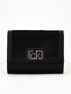 calvin-klein-small-fold-over-purse-black